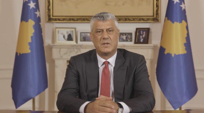 Presidenti Thaçi intervistohet në ora 13:00